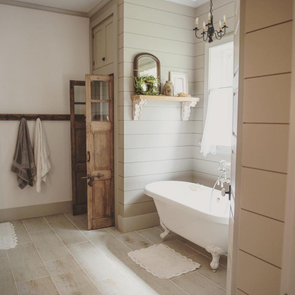 Vintage Tub, Farmhouse Bathroom