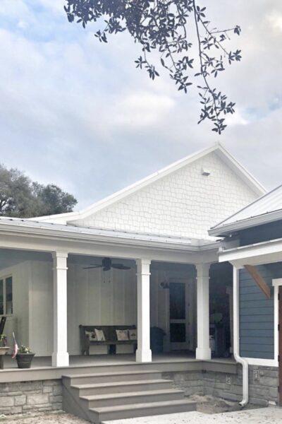 Southern classic white farmhouse